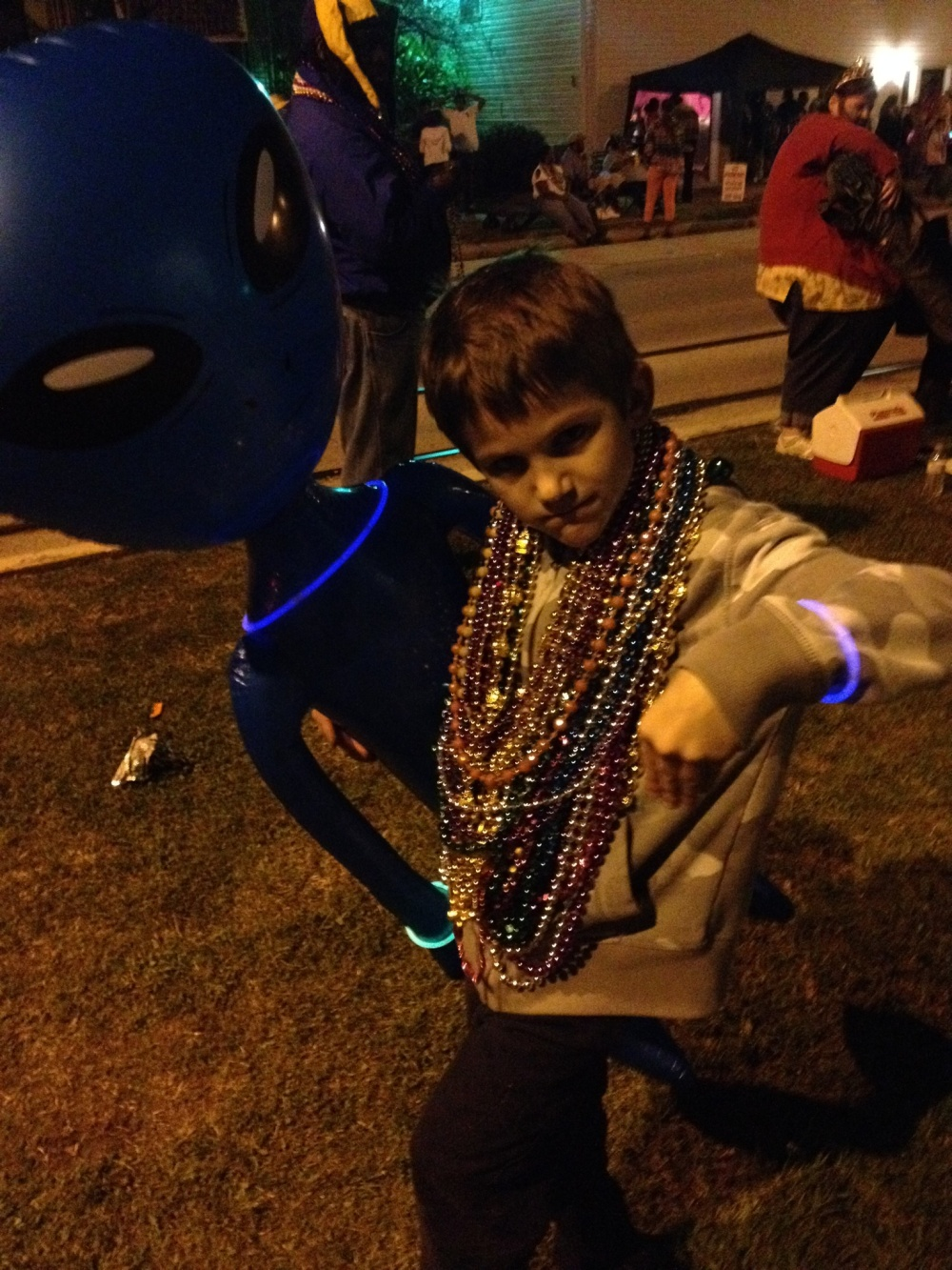 Alien enjoying Mardi Gras